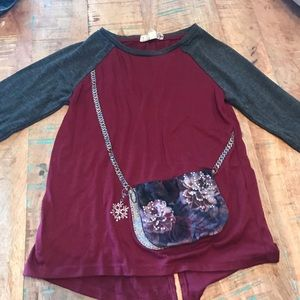 Jessica Simpson Girls Long Sleeve Purse Shirt
